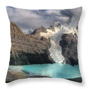 Berg Lake, Mount Robson Provincial Park Throw Pillow