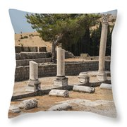 Bergama Asklepion Ruins Throw Pillow