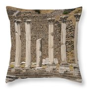 Bergama Colonnade Ruins Throw Pillow