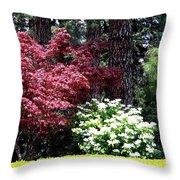 Beringer Winery Gardens Throw Pillow