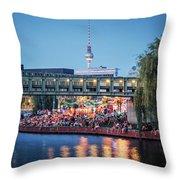 Berlin - Capital Beach Bar Throw Pillow