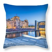Berlin Government District Throw Pillow