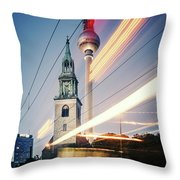 Berlin - Karl-liebknecht-strasse Throw Pillow