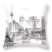 Berlin Medley Monochrome Throw Pillow