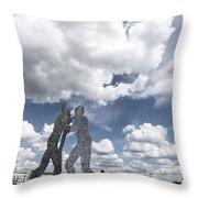 Berlin Molecule Men Spree Throw Pillow