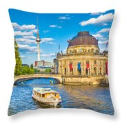 Berlin Museum Island Throw Pillow