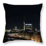 Berlin Night Landscape Throw Pillow