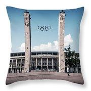 Berlin - Olympic Stadium Throw Pillow