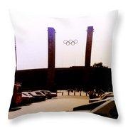 Berlin Olympic Stadium  Throw Pillow