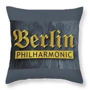 Berlin Philharmonic Throw Pillow