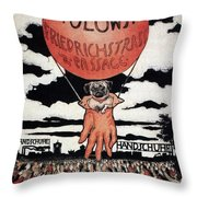 Berlin Potolowsky - Friedrichstrass Passage - Germany - Retro Travel Poster - Vintage Poster Throw Pillow