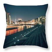 Berlin - Reichstagufer Throw Pillow