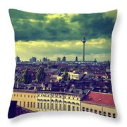 Berlin Roofscape Throw Pillow