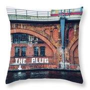 Berlin Street Art - Pull The Plug Throw Pillow