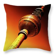 Berlin Television Tower - Berlin I Love You Throw Pillow
