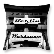 Berlin To Warsaw Frame 1  Throw Pillow
