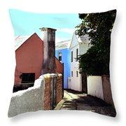Bermuda Backstreet Throw Pillow