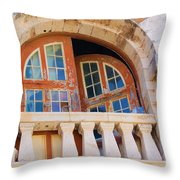 Bermuda Balcony Throw Pillow
