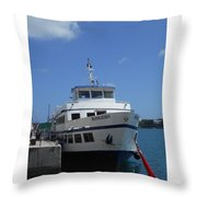Bermuda Ferry The Bermudian Throw Pillow