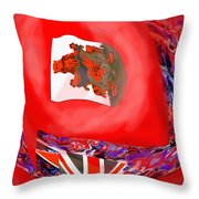 Bermuda Flags Throw Pillow