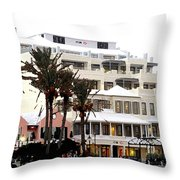 Bermuda Front Street Four Throw Pillow