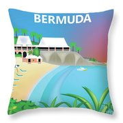 Bermuda Horizontal Scene Throw Pillow