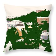 Bermuda Neighborhood Throw Pillow