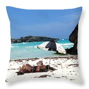 Bermuda On The Beach Throw Pillow