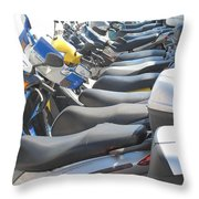 Bermuda Scooters Throw Pillow