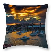 Bermuda Sunset Throw Pillow