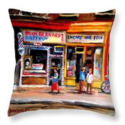 Bernard Barbershop Throw Pillow