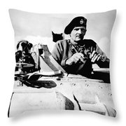 Bernard Law Montgomery Throw Pillow by War Is Hell Store