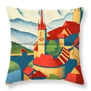 Berne Switzerland - Folded Throw Pillow