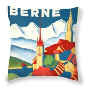 Berne Switzerland - Restored Throw Pillow