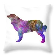Bernese  Mountain Dog In Watercolor Throw Pillow