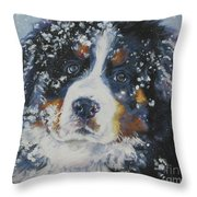 Bernese Mountain Dog Puppy Throw Pillow