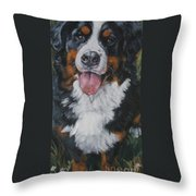 Bernese Mountain Dog Standing Throw Pillow