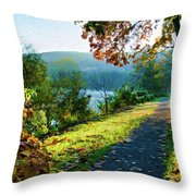 Bernharts Dam Fall 12-25 Throw Pillow