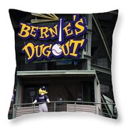Bernies Dugout Throw Pillow