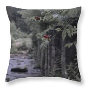 Berries On A Branch Throw Pillow