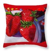 Berry Berry Berry Good Throw Pillow