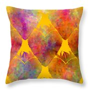 Berry Hearts - Food Pattern Throw Pillow
