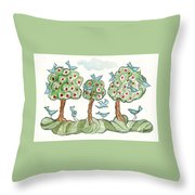 Berry Picking Throw Pillow