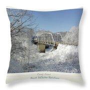 Bert White Bridge Poster Throw Pillow
