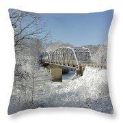 Bert White Bridge Throw Pillow