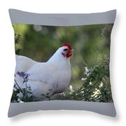Bertha In The Flowers Throw Pillow