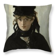 Berthe Morisot With A Bouquet Of Violets Throw Pillow