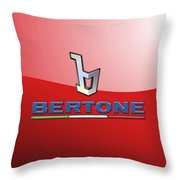 Bertone 3 D Badge On Red Throw Pillow