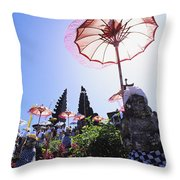 Besakih Temple Festival Throw Pillow