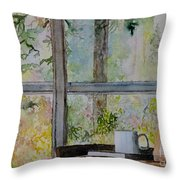 Beside A Window Throw Pillow